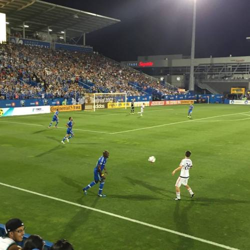 Pro soccer game between the Montreal Impact and the Chicago Fire