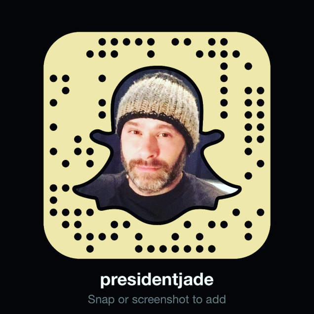 Snapcode for Jade Sambrook's presidentjade Snapchat account